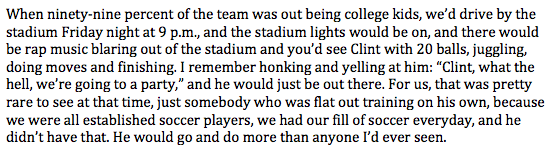 Working on a feature about the #USMNT players who played college soccer. This is about Clint Dempsey: http://t.co/Qi3BWBDoh0
