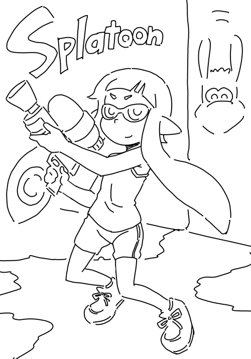 Wii U Coloring Pages : Splatoon Wii U Forum Page 2