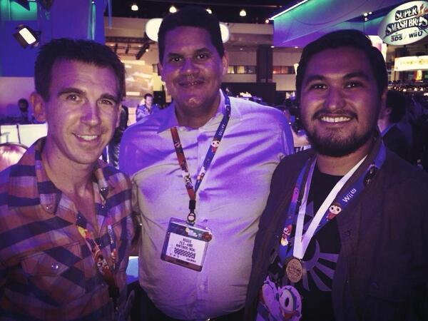 Reggie Fils-Aime, Nintendo of America President, with Paul Gale Network at E3 2014