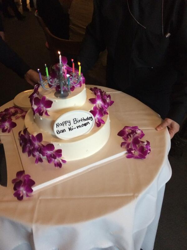 Birthday Cake Ki Images : Happy Birthday Ban Ki-Moon! (with images, tweets) ? un ...