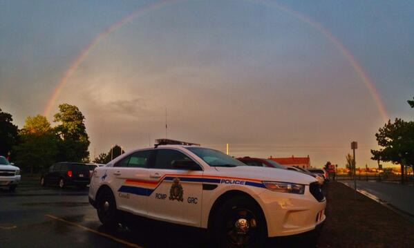 You have to see this: RT @CBCcameraman: Rainbow over RCMP headquarters in #Moncton: http://t.co/JzBQ21py02 #rcmpnb #rcmp