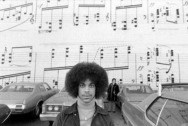"""Prince's """"Purple Rain"""" turns 30 today. Here he is a few years earlier in front of Schmitt Music #1978 #Prince http://t.co/dsl7gua8M1"""