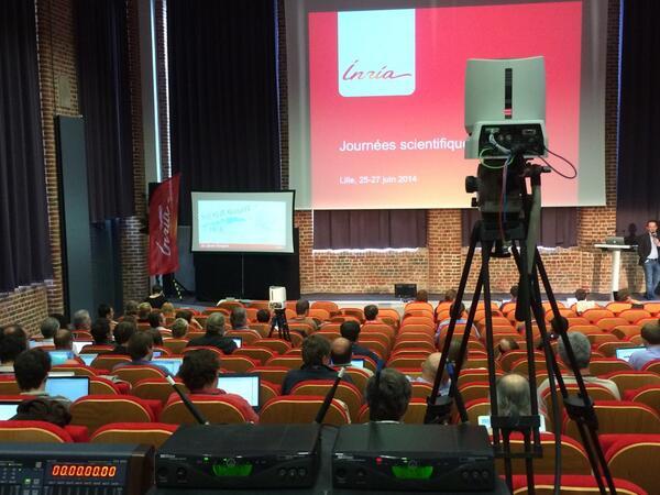 Les #JSinria sont @euratechnologie pour 3 jours et @LeelyDessin est là aussi ! #inria http://t.co/mLFShEJpu6