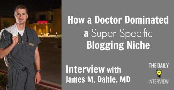 How a Doctor Dominated a Super Specific Blogging Niche with James Dahle, MD (@WCInvestor) http://t.co/KcxLMS38If http://t.co/6QcRHwNd0I