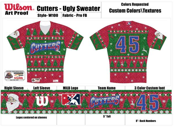 9d1f1b2eedf poor bastards rt crosscutters check out the ugly christmas sweater jerseys  players will be wearing tonight