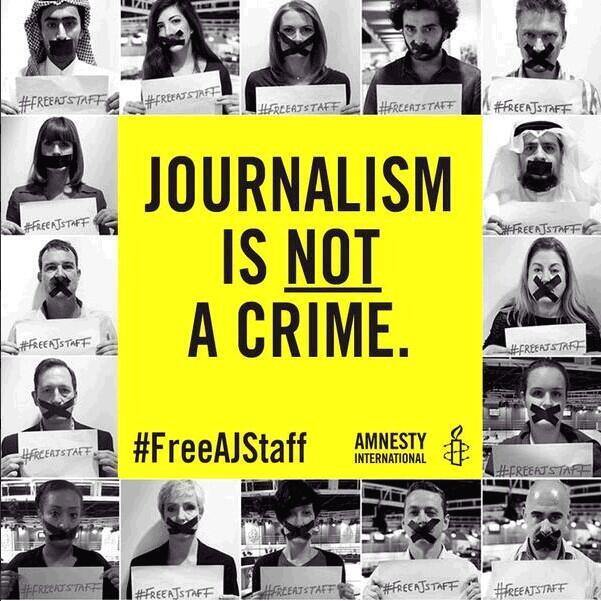 Journalism is not a Crime. #FreeAJStaff http://t.co/C4vUlT6ian
