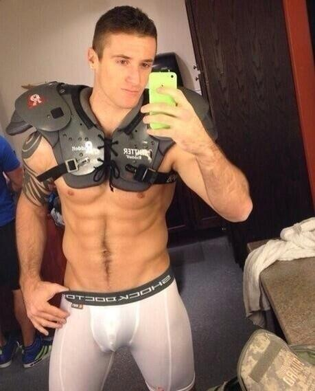 Male Abs Selfie Hot Dog