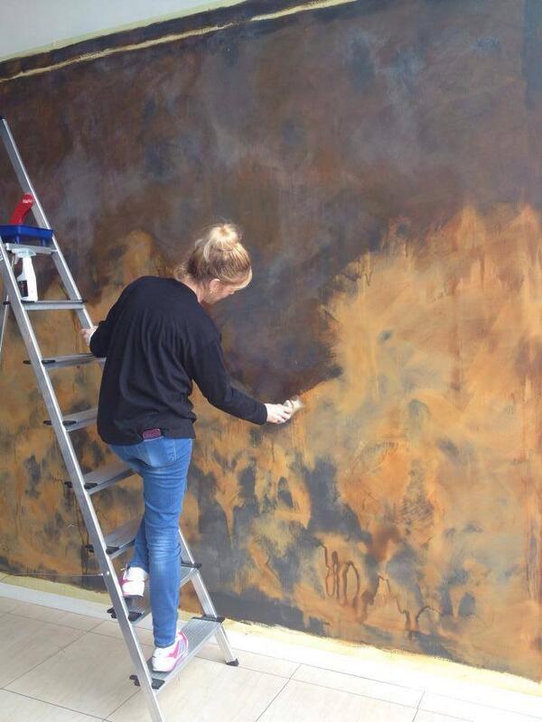 Microcemento pintura artecret twitter - Pintura decorativa para paredes ...