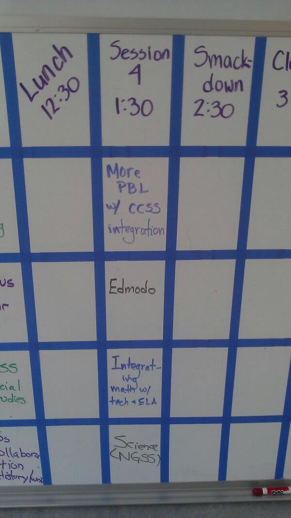 Hey look! We have a @edmodo session at #edcampmarin http://t.co/hbJTUQM2Dj