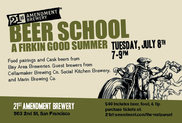 We're giving away a pair of tickets to our Beer School on July 8th! Want in? RT this tweet to be entered to win! http://t.co/pMpwBXusBV
