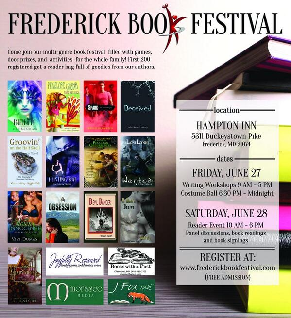 Frederick book festival md june 27 craft of writing for Craft store frederick md