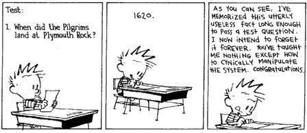"""@palbion: RT @Calvinn_Hobbes: The entire education system summed up in a three panel comic strip. http://t.co/m0kQoCYC4Z #fb"""
