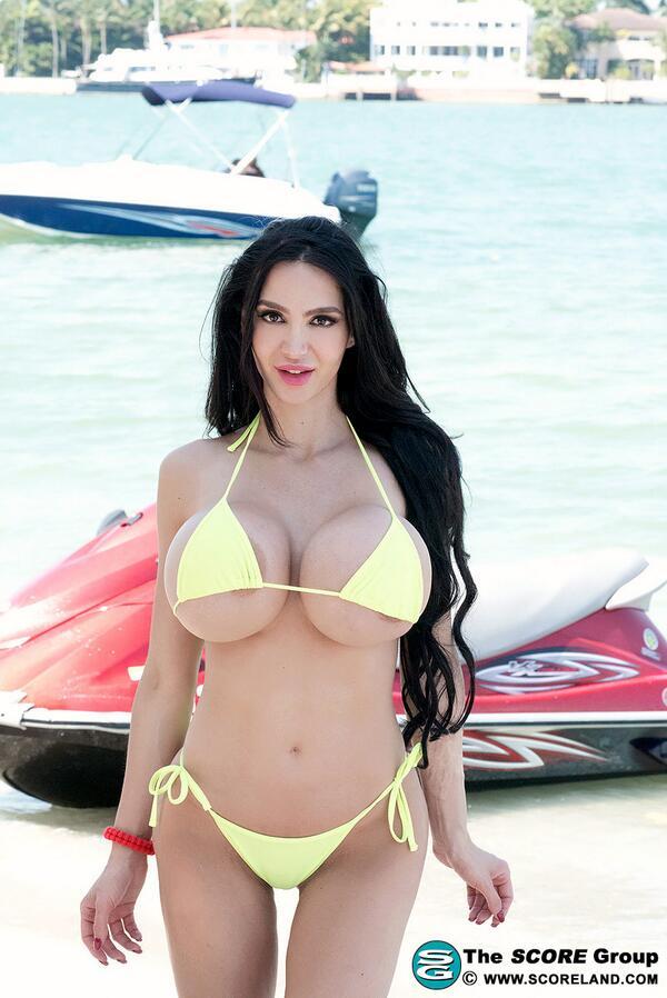 Mega big bikini busty boobs