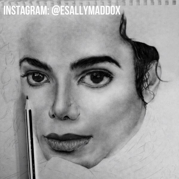 Time for bed, more tomorrow! My love, my inspiration. #MichaelJackson #BethMaddoxArt http://t.co/XSK91Z9huA
