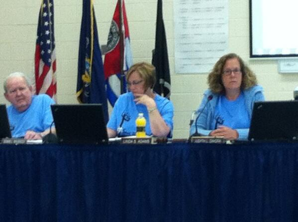 "Most of the board are wearing ""Save the Lights"" t-shirts and Dennis Wausnock is back. http://t.co/4yGPq60j3d"