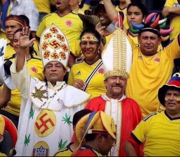 Columbian Nazi Weed Pope is a thing #WorldCup2014 http://t.co/TvW4E5stVk