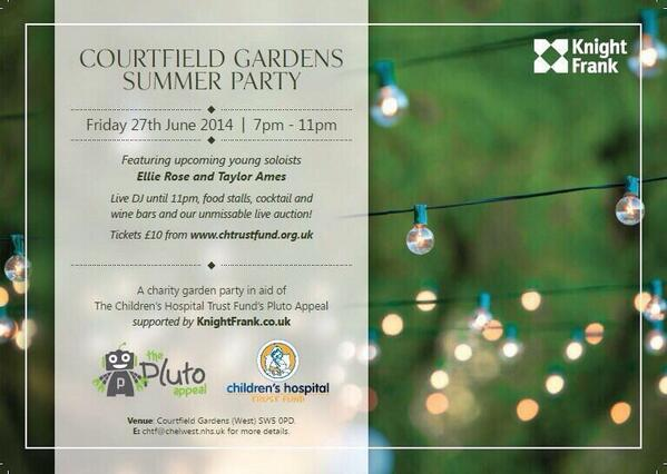 @CourtfieldGdns #summerparty this Friday in aid of @theplutoappeal - enjoy @Beauforthouse cocktails 7-9pm #summerfun http://t.co/tftXWgWGfP