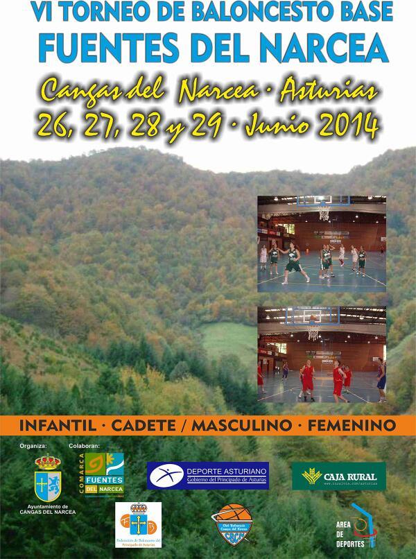 Cartel Torneo Baloncesto Fuentes del Narcea