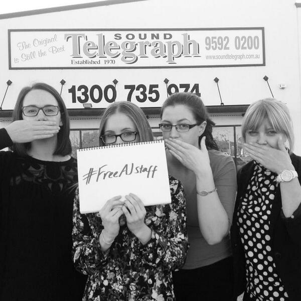 #FreeAJStaff #journalismisnotacrime  #rockingham #australia #soundtelegraph #journalists http://t.co/8XMkkplZHD