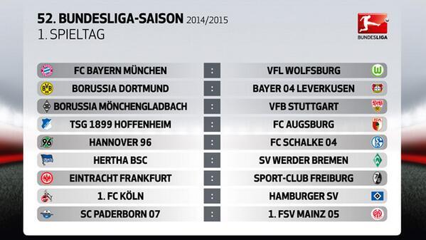 Bundesliga Spielplan 14/15