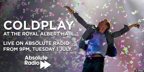 We're broadcasting @Coldplay LIVE from the @RoyalAlbertHall next Tuesday. RT for a chance to win tickets to be there. http://t.co/nugiUyqDMn