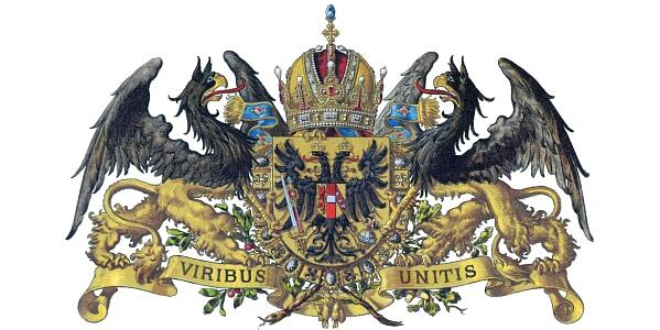 """Před 100 lety on Twitter: """"Viribus unitis = Spojenými silami. Bitevní loď  se jmenuje podle habsburského hesla v erbu císaře Františka Josefa I.  http://t.co/W6iRRX9HPW"""""""