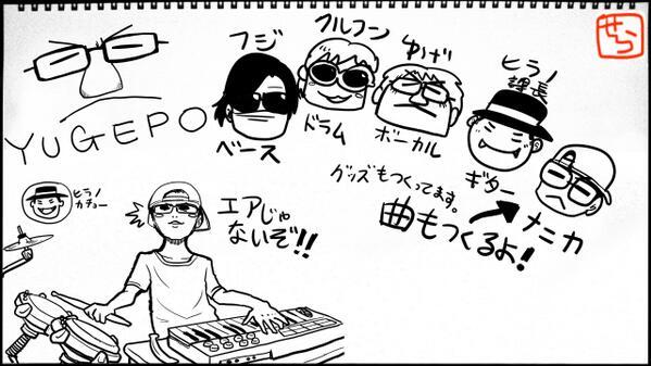 せらみかる در توییتر 今日描いたわくわくバンドメンバー Nicoradi