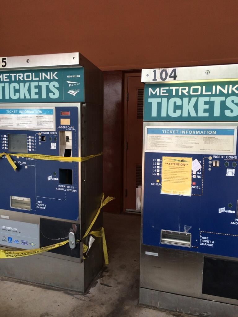 Twitter / jayraguda: Both ticket machines out again ...