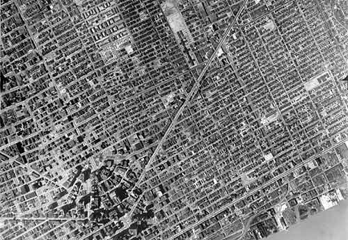 This is Detroit in 1949. Watch what happens to this area in 7 photos over six decades. http://t.co/ftRwdyQUsB http://t.co/IoXukNxs4M