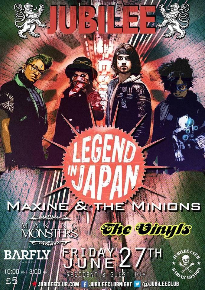 RT @jubileeclub: This Friday's bangin' lineup @LIJmusic @MaxineEtMinions @MakingMonsters1 @TheVinylsOffcl > http://t.co/qXzy0qsE2F http://t…