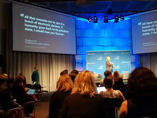 This quote floored me. So many of my connections, sadly, exist in this vulnerable space... #civicmedia http://t.co/jdngt6CUa9