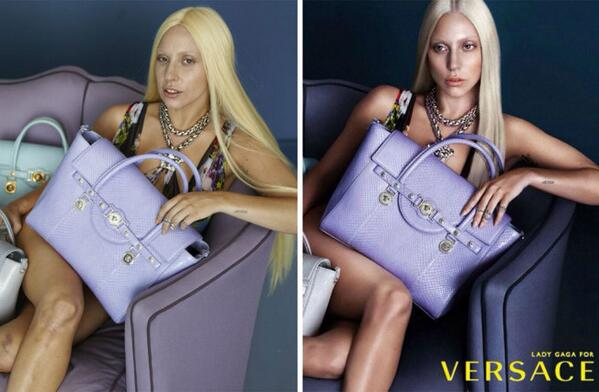 Should heavily-photoshopped fashion ads be labeled as such? http://t.co/KcwfUXCuwr via @BoF #LadyGaga #Versace http://t.co/a3kPnnHr8u