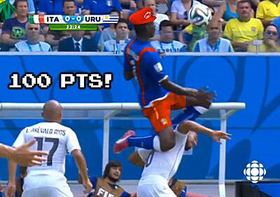 World Cup Fever Fun & some Biting - Super Mario!