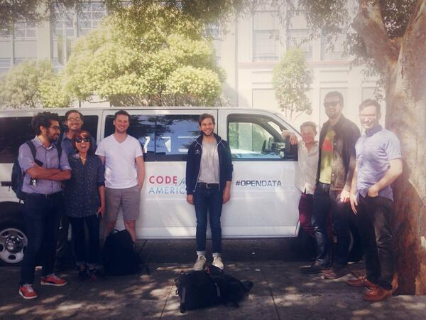 watch out guys...@codeforamerica's #opendata van is revving up http://t.co/3VnWFGmls1