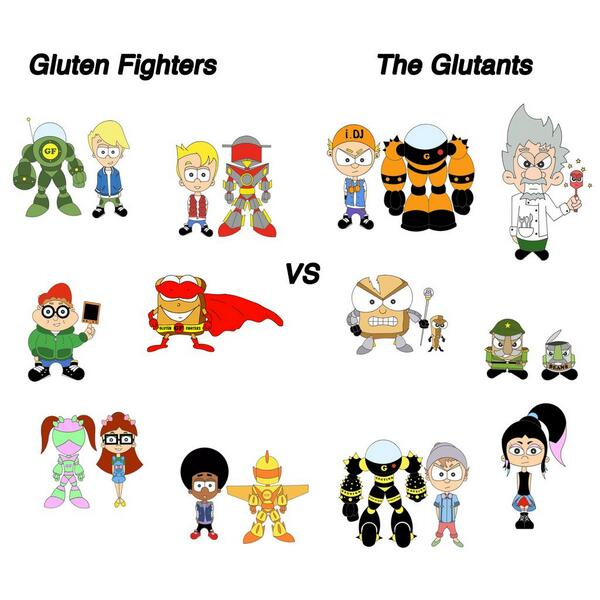 Gluten Fighters vs The Glutants.  Stay tuned for more fun adventures. #glutenfree #lifestyle #animation #allergies http://t.co/RAxIbLQVrf