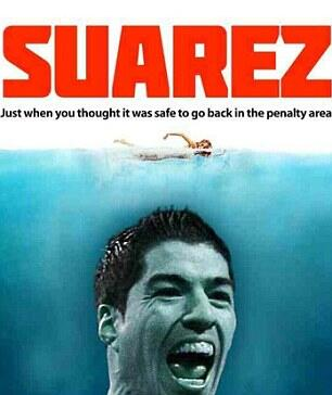 Somebody call @StevenSpieIberg #BanSuarez #cannibal http://t.co/XH4eOJrqMY