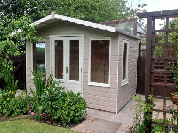 Sheds Summerhouses On Twitter 10 X7 Coquet Summerhouse Painted In Muted Clay With Pale Jasmine Doors Windows Trims Http T Co Z0tidlns01