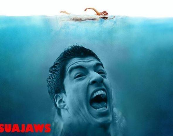 Memes sobre #Suárez pipocam nas redes sociais após suposta mordida a jogador italiano: http://t.co/8zJn7wAobw http://t.co/DFt2fNHhOU