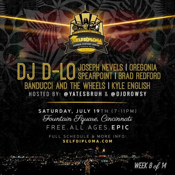 I'll be making a stop in #Cincinnati next month! Meet me on Fountain Square July 19th! @selfdiploma http://t.co/INSRzvsnag