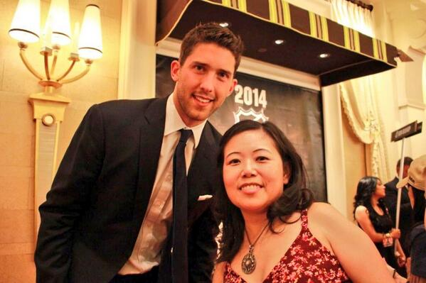 Even though he didn't win, @Benbishop30 was super nice! Thanks for the pic! #NHLAwards @TBLightning @alishia_music http://t.co/emewauBWFn
