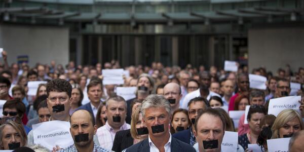 #FreeAJStaff #journalismisnotacrime http://t.co/EgcANJF6d3 http://t.co/0utEDZDC2L