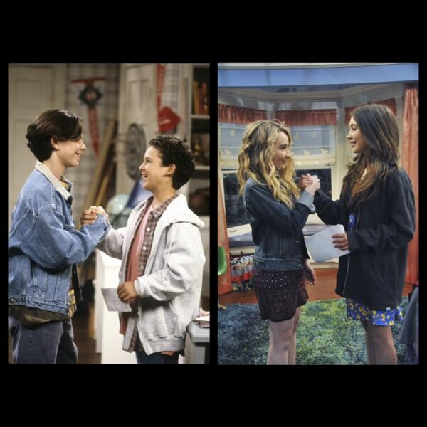 Ah yes, back when I was taller than @BenSavage RT #GirlMeetsWorld recreates photos  @SabrinaAnnLynn @rowblanchard http://t.co/V6Lrr1D3tx