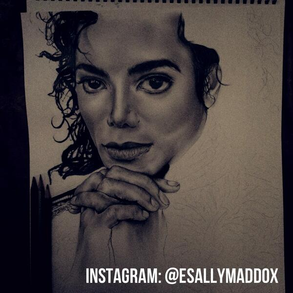#MichaelJackson #BethMaddoxArt hope to finish this tomorrow! http://t.co/31rjL9rjVC