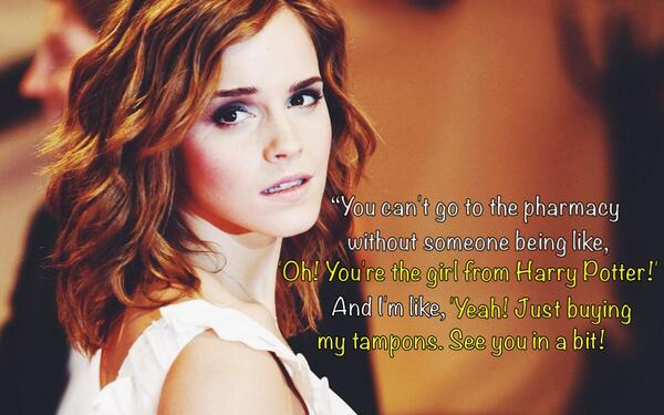 Emma Watson Quotes On Twitter Oh You Re The Girl From Harry