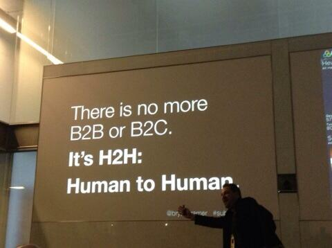 There is no more #B2B or #B2C. It's #H2H: Human to Human @bryankramer #MWL2014 http://t.co/DQnf2WZXBU
