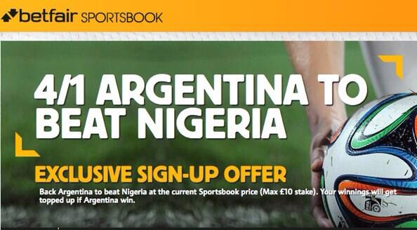CRUSH THE BOOKIES: Argentina are a scandalous 4/1 (up from 4/9) to beat Nigeria!!!! [Betting Preview & Tips]