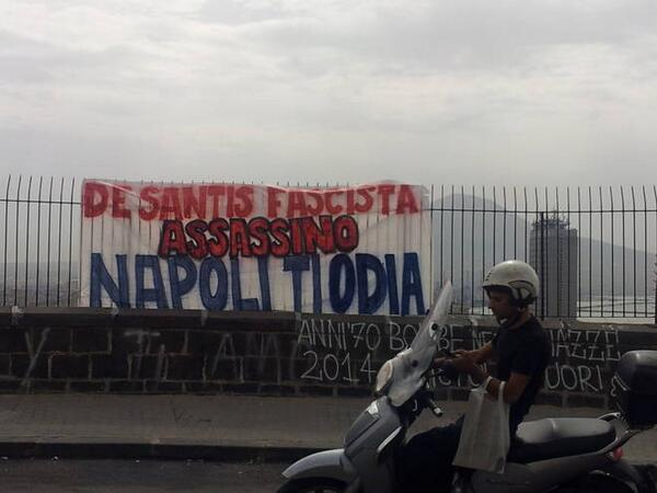 TRAGIC: A Napoli fan who was wounded in a gun fight with Roma ultras before the Coppa Italia final has died