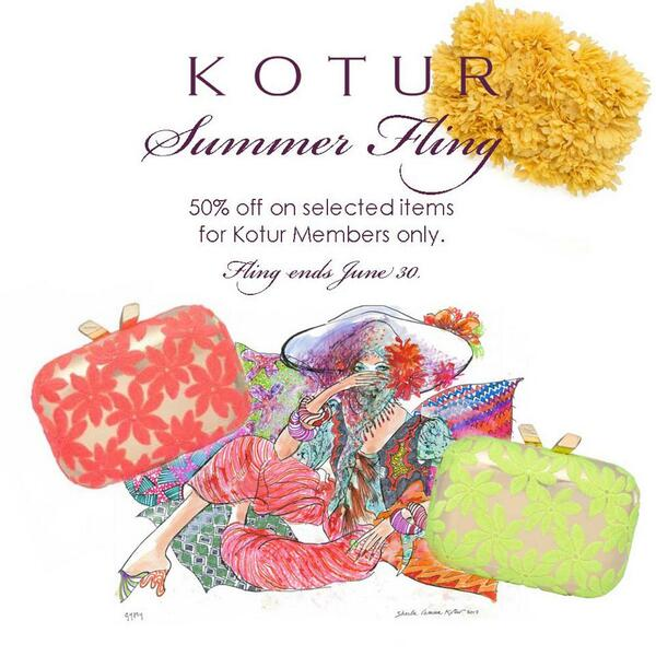 Our first summer fling...50% off on selected Evening bags. #KOTUR #Clutch http://t.co/yv1lF3UfkK http://t.co/QOFwsqSkGj