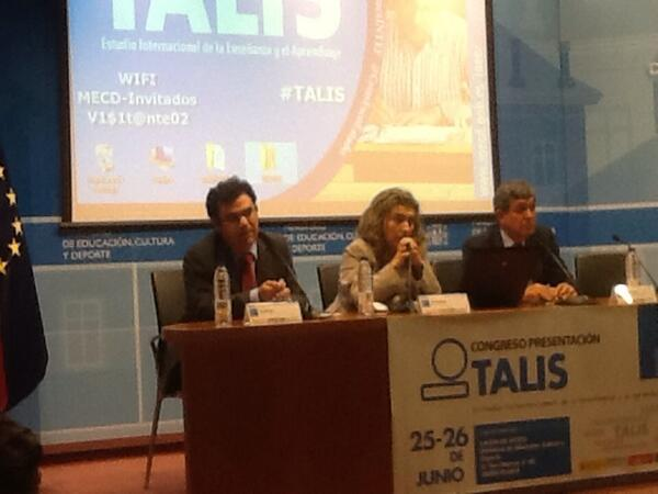 #TALIS @sanz_ismael cierra la inauguración del congreso http://t.co/gxucokbw0y