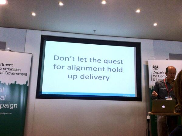 Just get on with it. Great advice from Ben Hayman @gdsteam @localdigitalgov #LocalDigital #LDdiscovery #localgov http://t.co/LoK5jXTzF8